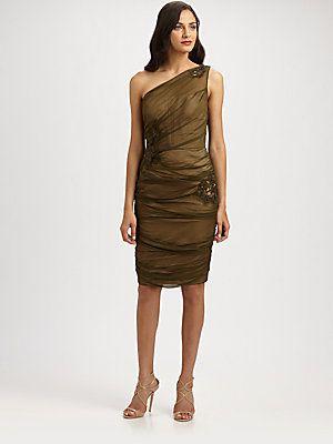7ea85b773e4 Carmen Marc Valvo Silk Chiffon Dress