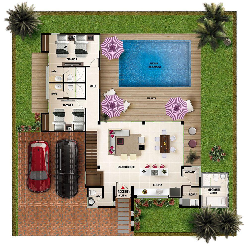Distribuci n de casas de campo proyectos casas de campo for Distribucion de casas modernas de una planta