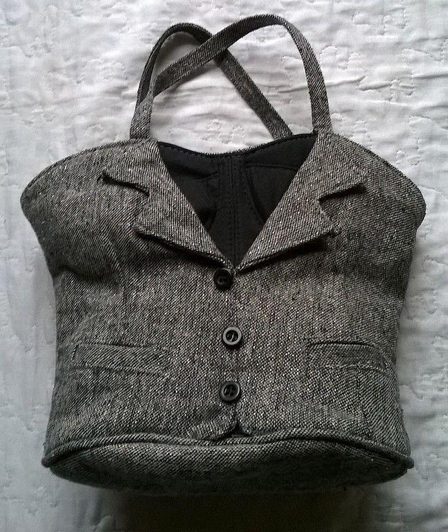 bag sac a main original forme veste tailleur corset sacs et trousses pinterest. Black Bedroom Furniture Sets. Home Design Ideas