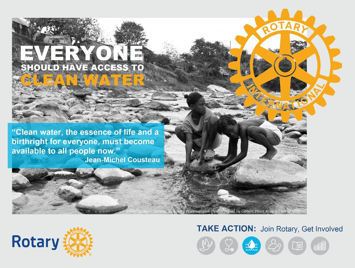 Rotary Mini Poster - Clean Water by GT