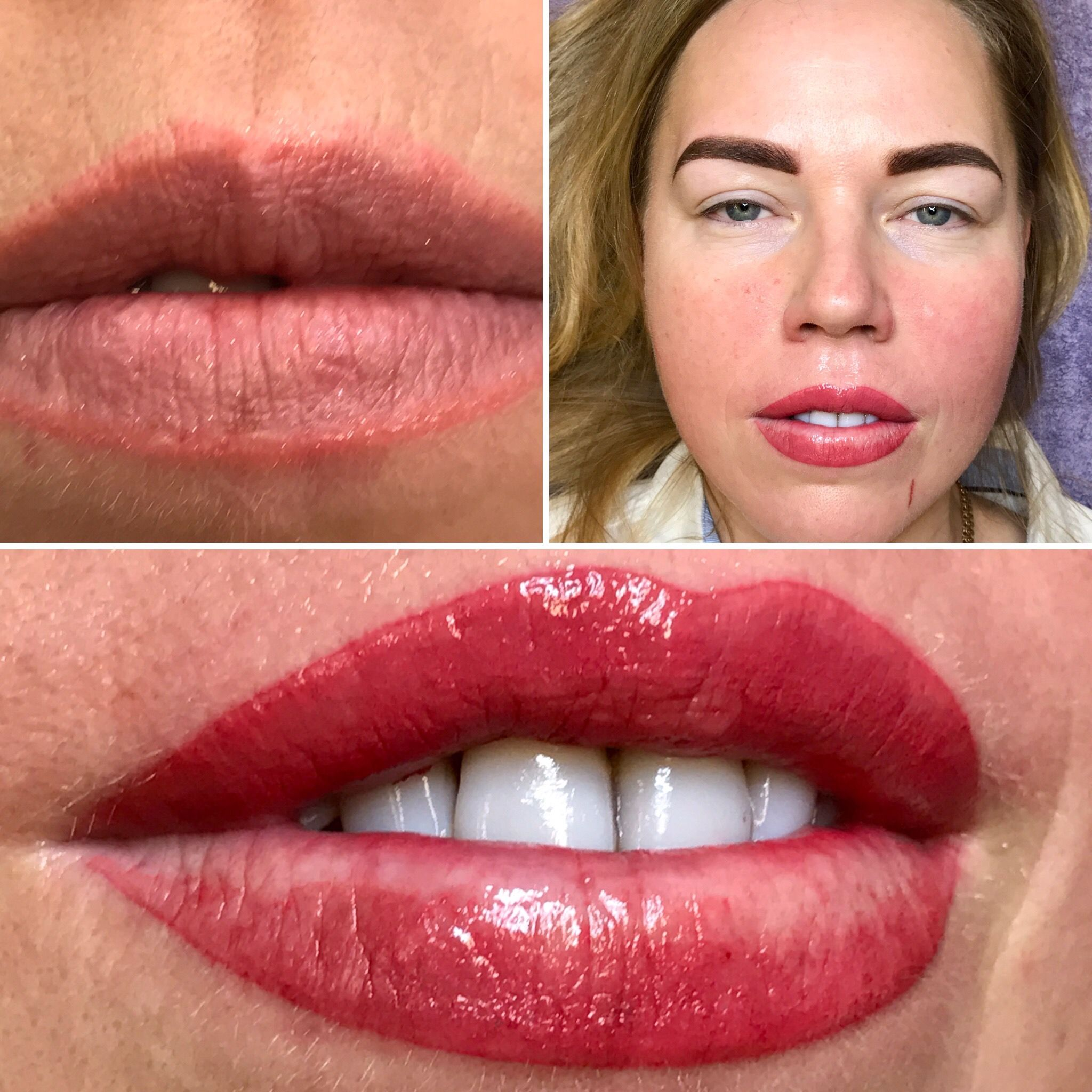 Before After One Session On Aquarelle Lip Blush Tattoo In 2020