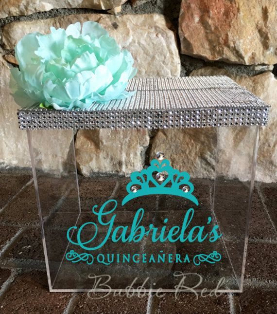 quinceanera card box money box quinceanera gift card box sweet 16