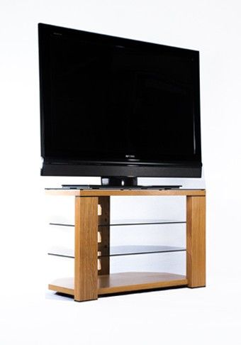 Optimum Edge 800 Natural Oak Wooden TV Stand up to 40