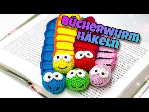 Photo of Einfaches Lesezeichen Bücherwurm – Häkeln | #Schulanfang | #DIY