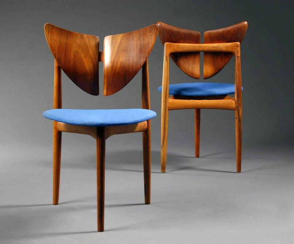 Threelegged chair designed by Kurt Ostervig 1960 MidCentury