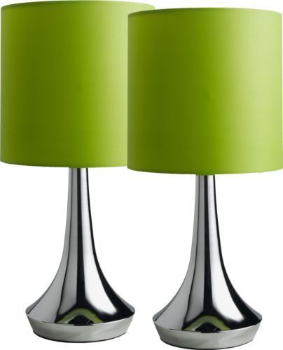 Apple Green Lamps Colour Match Pair Of Touch Table Lamps Apple