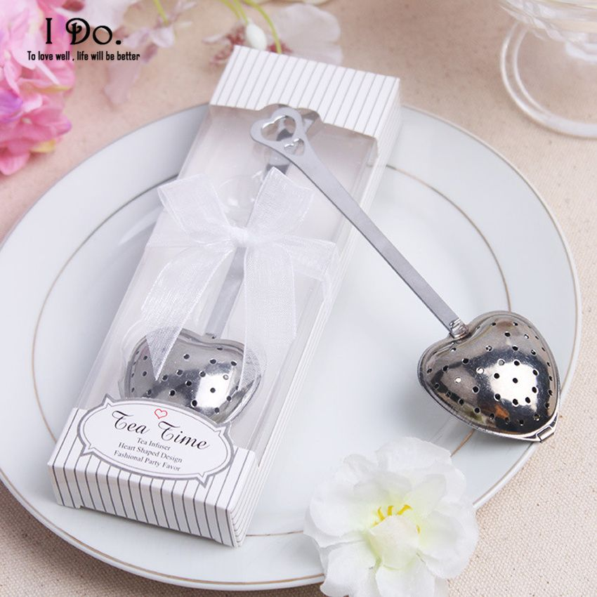 Free Shipping Heart Shaped Tea Infuser Wedding Favors And Gifts