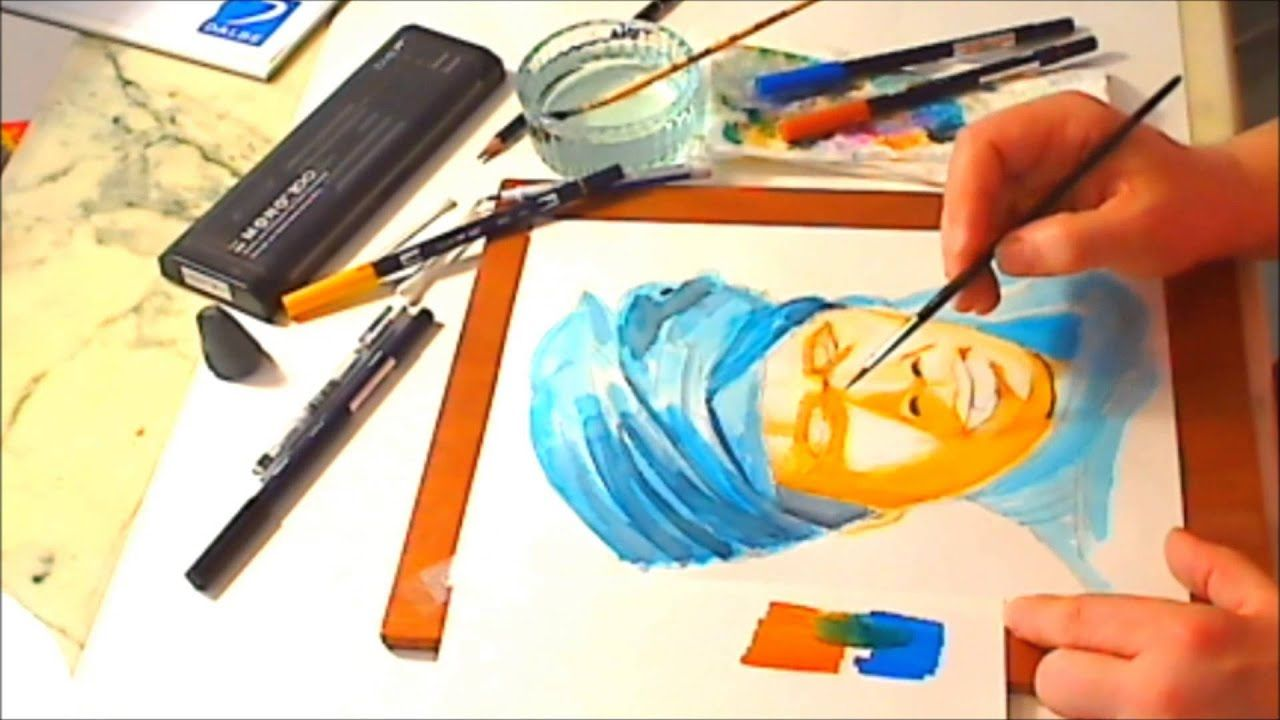 Tutorial 3 A Way To Use Tombow Abt As Watercolor Tombow Pen