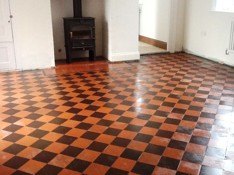 A customer called me out to take a look at restoring the for Victorian lino flooring