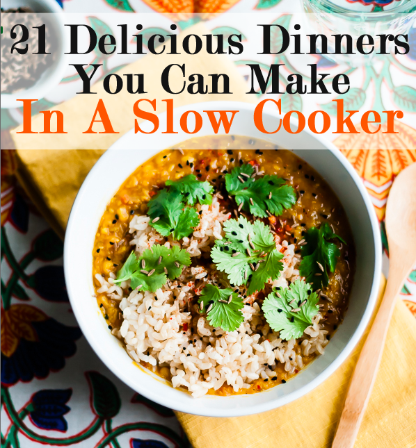 21 Fall Dinners You Can Make In A Slow Cooker Slow Cooker Vegetarian Vegetarian Slow Cooker Recipes Slow Cooker Dinner