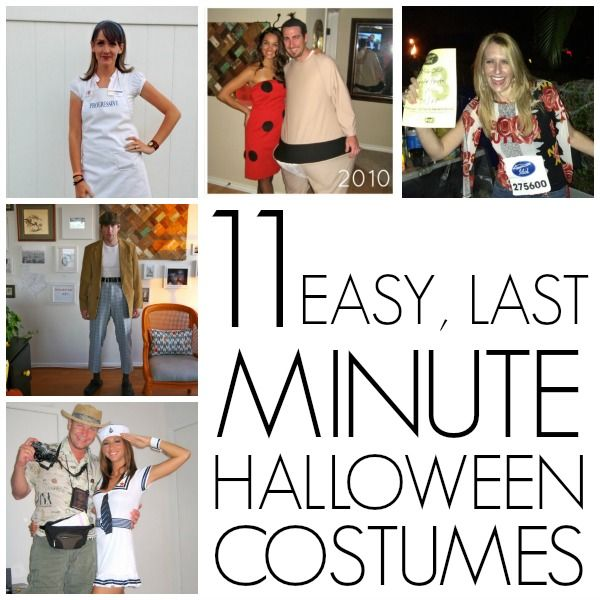 Last minute homemade Halloween costumes   Homemade halloween ...