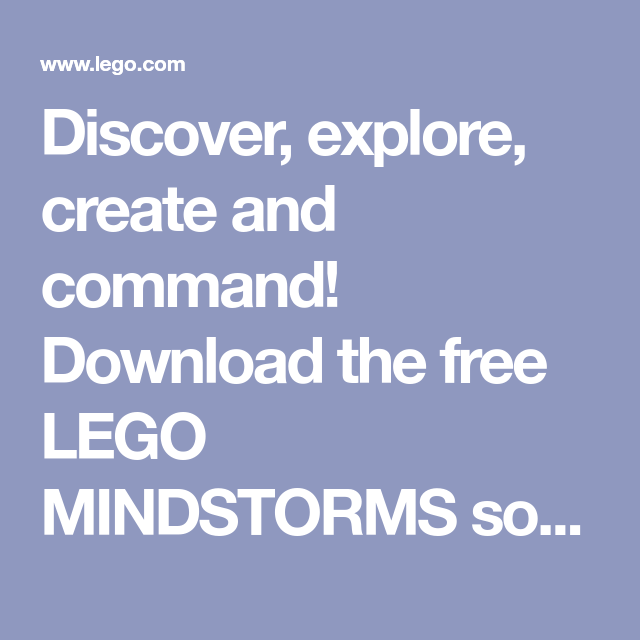 Discover, explore, create and command! Download the free LEGO ...