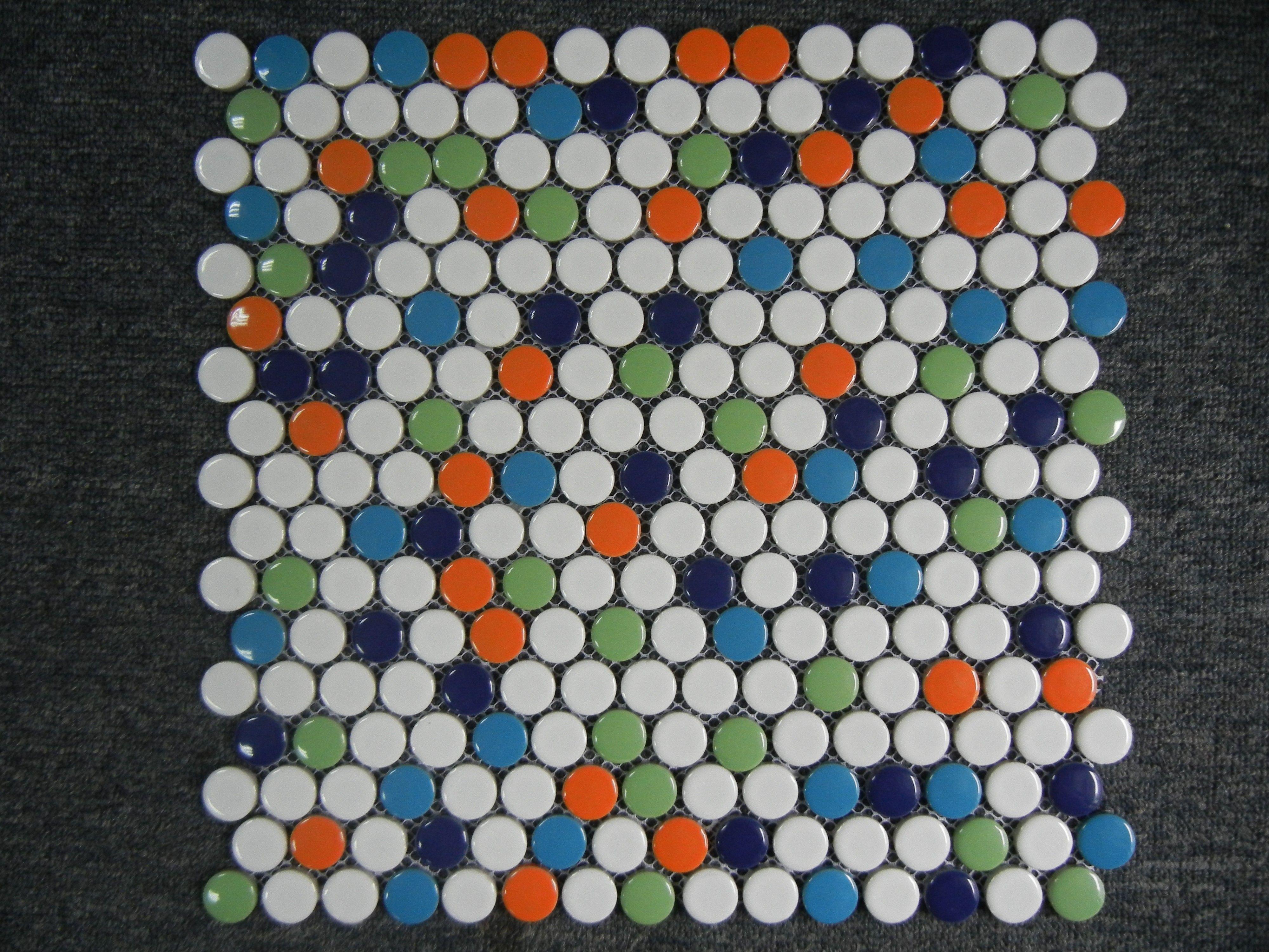Moddotz Confetti Porcelain Tile Penny Rounds 16 Sqft Penny