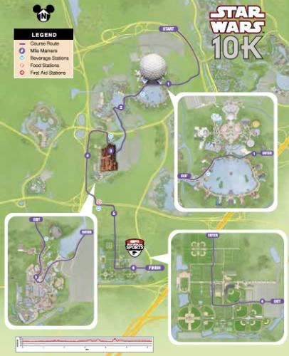 on disney marathon course map