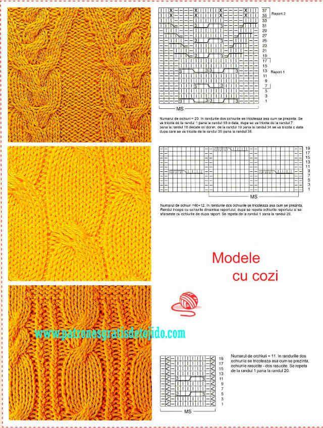 Libro de 72 Patrones de Puntos Dos Agujas / imágenes y archivo PDF para descargar - Parte 2 | Crochet y Dos agujas