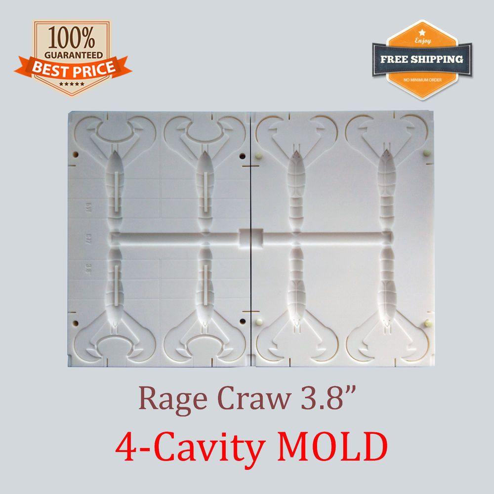 Details about Super Speed Craw Fishing Lure Bait Mold Soft