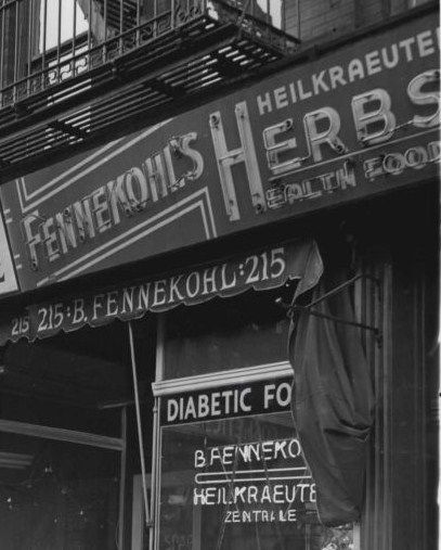 Kitchen Supplies Nyc: Old German Health Food Store In 86th Street, German