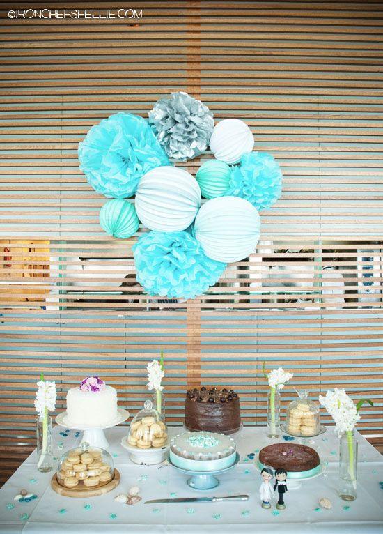 Decoración buffet en azul