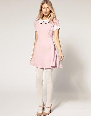 16++ Pink peter pan dress information