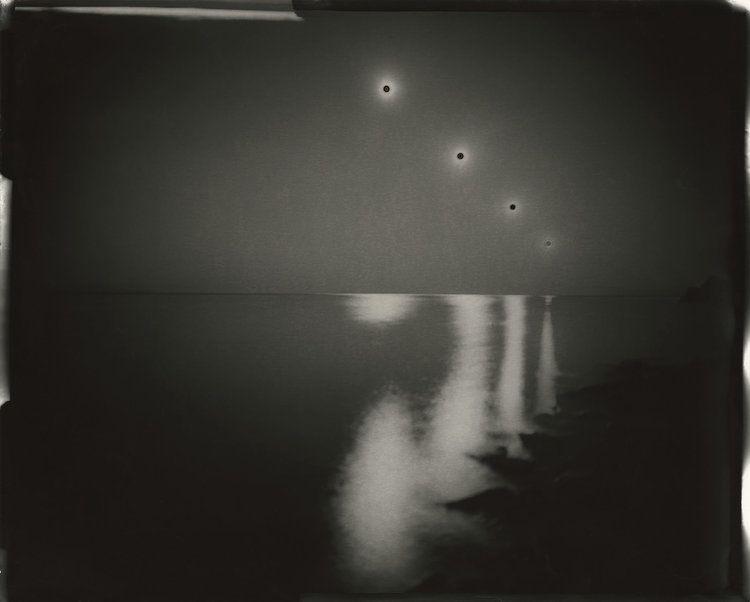 "hauntedbystorytelling: "" Chris McCaw :: Sunburned GSP # 202(SF Bay/expanding), 2008. 16""x20"" unique gelatin silver paper negative. Collection of the Santa Barbara Museum of Art / src: Chris McCaw """