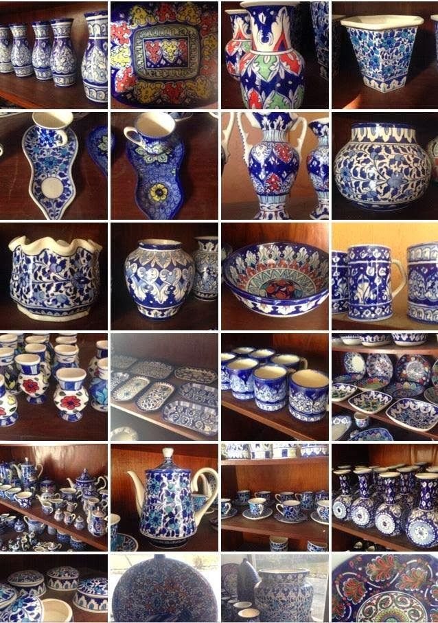 Blue Pottery This Is Basically Multani Art Presently Also Available In Gujrat Pakistan Indian Crafts Blue Pottery Crafts
