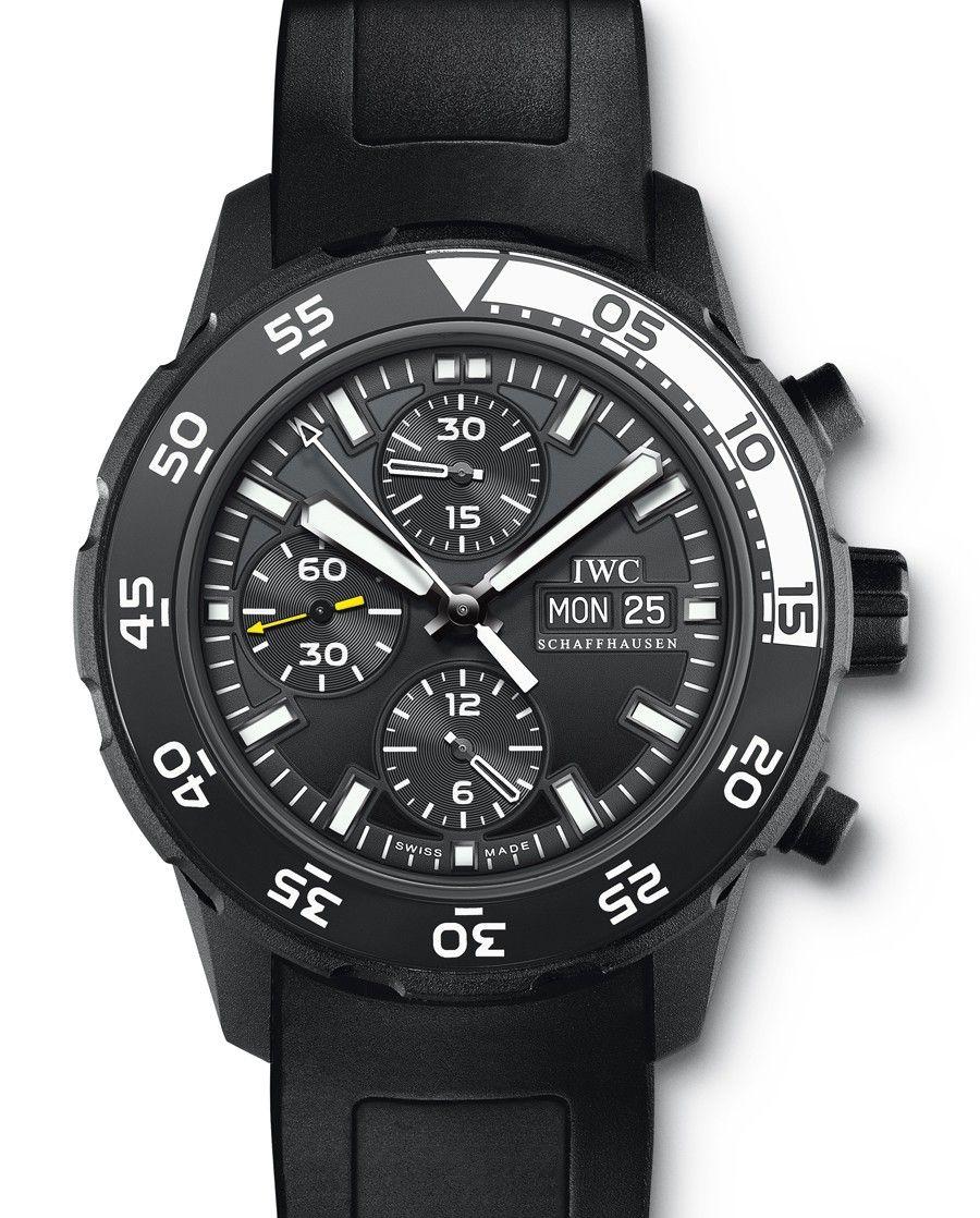 IWC | Aquatimer Chronograph Edition Galapagos Islands | Edelstahl PVD-beschichtet | Uhren-Datenbank watchtime.net