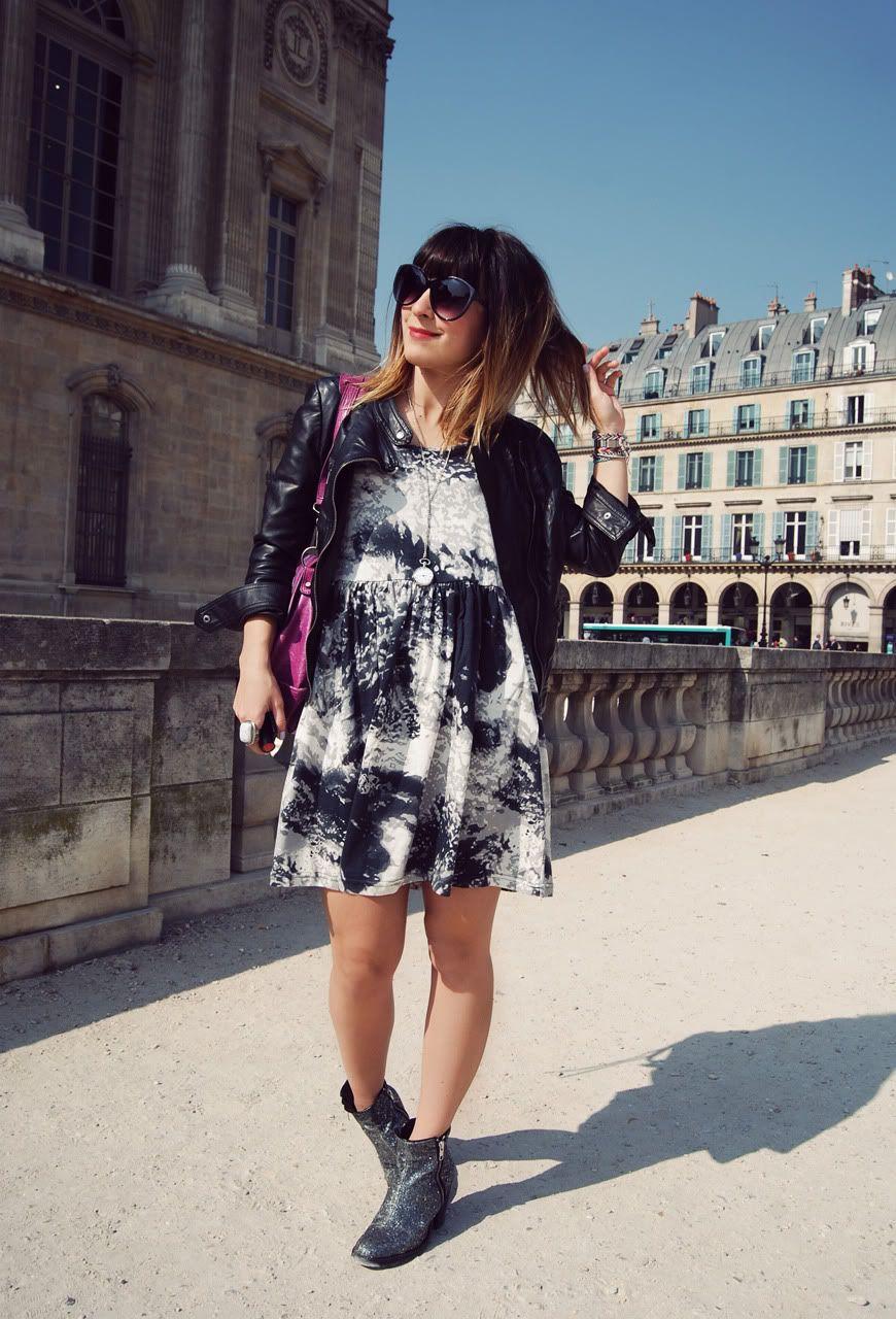 Rebelle shop dress Louvre Paris streetstyle