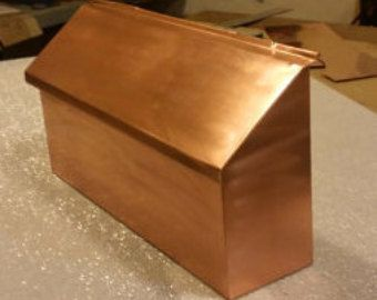Wall Mount Copper Mailbox | misc decor | Pinterest ...