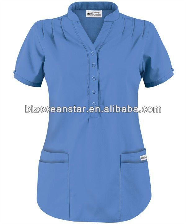 Factory Price Hospital Uniform Scrub New Style V Neck Design Fashion Medical Scrubs