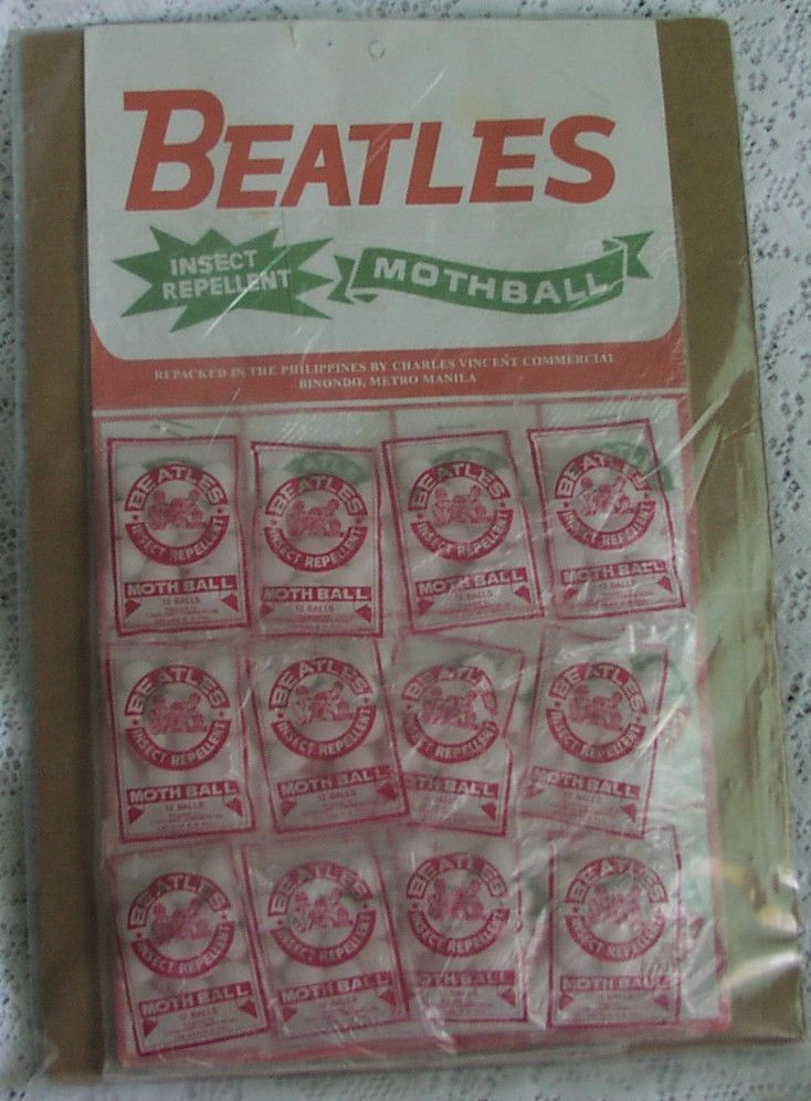The Beatles INSECT REPELLENT Mothballs . I can't believe