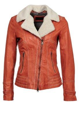 6c539909d20 Chaqueta Cuero Forrado Naranja Leather Gloves