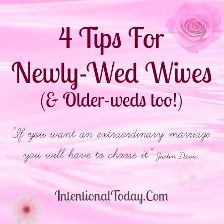 4 Tips For Newly Wed Olderwed Wives Click To Read