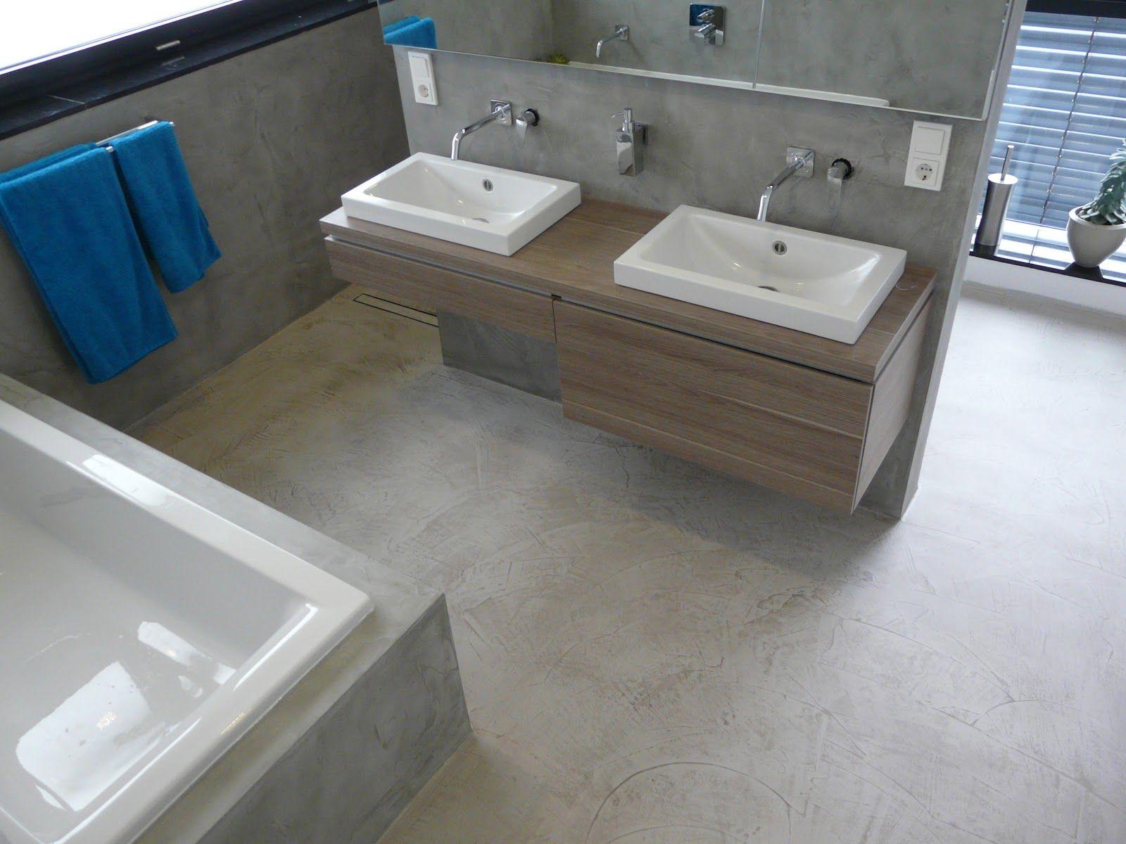Beton Cire Tegels : Wand wohndesign beton cire beton floor bodenbeschichtung in