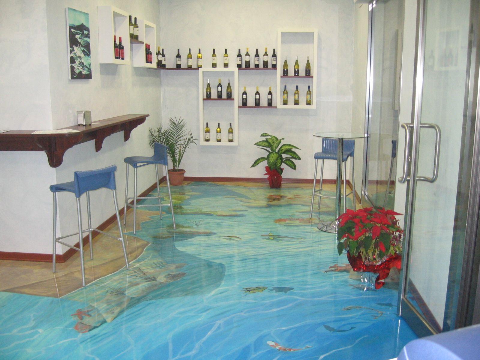 3D Trompel'œil epoxy floor 3d floor art, Epoxy floor