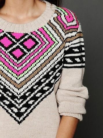 Mara Hoffman Sweater - Great modern fair isle knitting   DIY ...