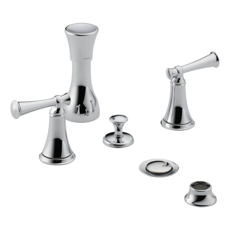 Brizo 68405 Lhp Bidet Faucet Double Handle 4 Hole Mount With