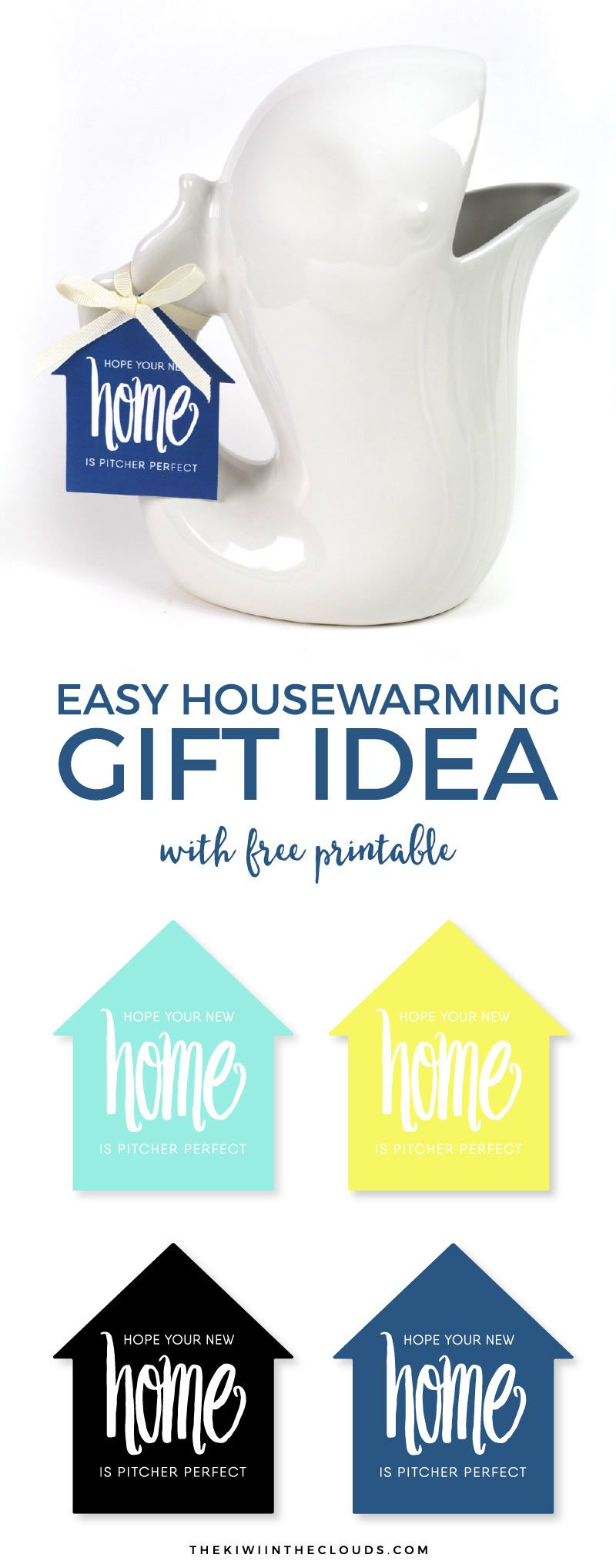 Easy & Cute Housewarming Gift Idea | Free printable gift tags ...