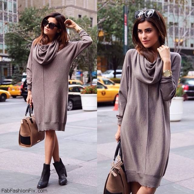 cbb0d2ede0 Ways To Wear A Fall Sweater Style Watch  20 ways to style and wear sweater  dress this season