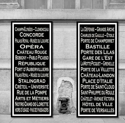 DIY Subway Sign | Lettering, Paris metro, New york subway