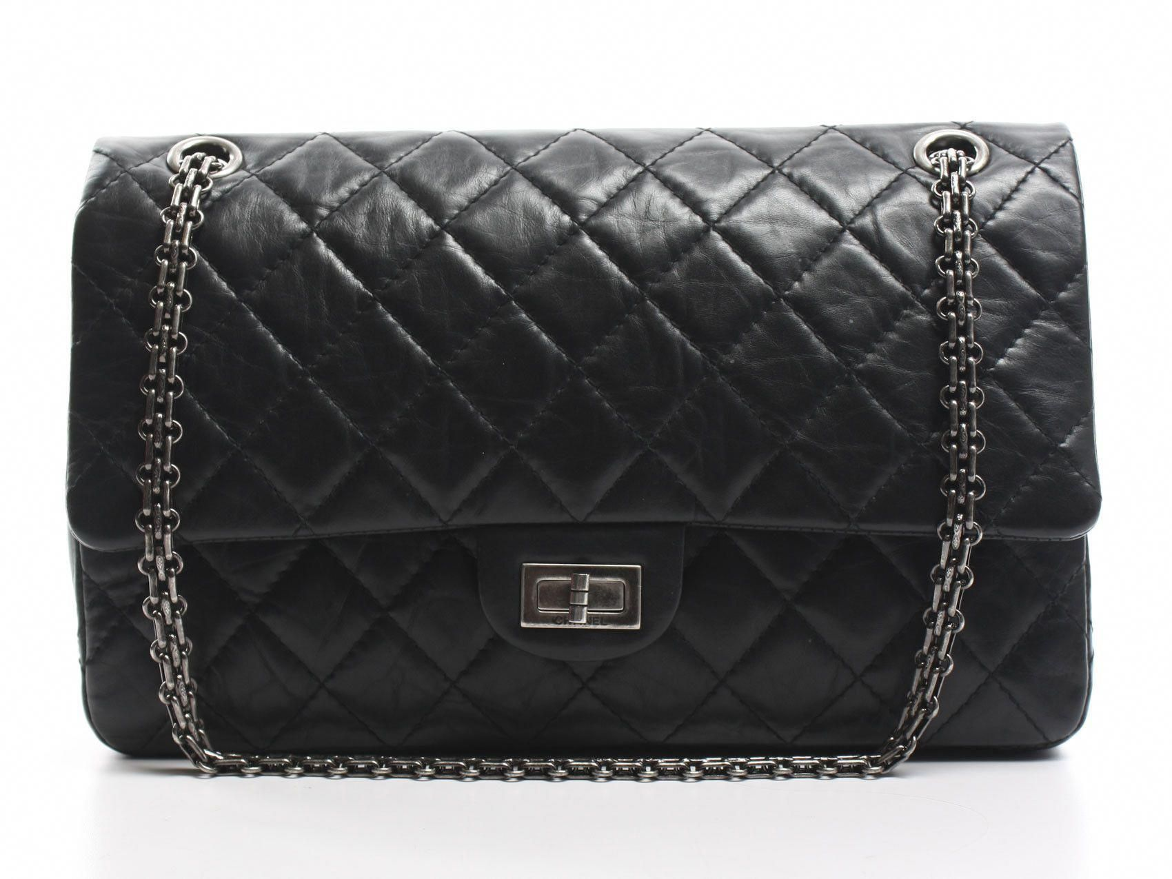 634b51c108d5 Timeless Luxuries - CHANEL Black Aged Calf 2.55 Reissue 225 Flap Bag ...