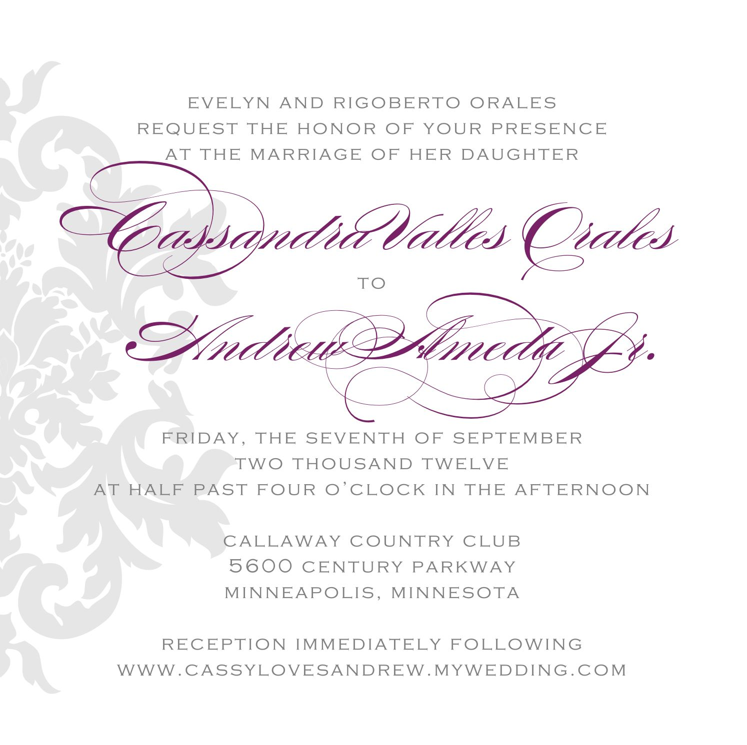 Wedding Invitations in Spanish Modern Templates There