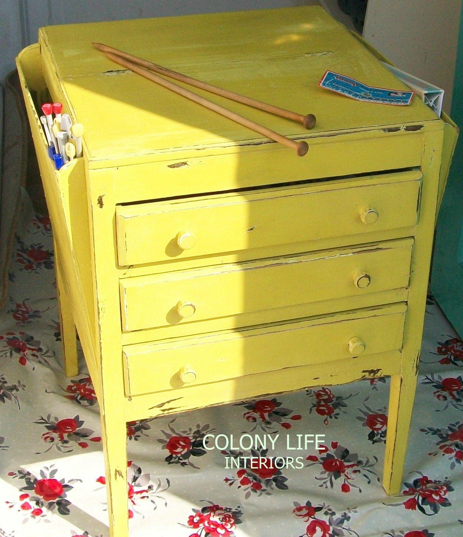 Vintage sewing/craft storage cabinet. Reloved in Annie ...