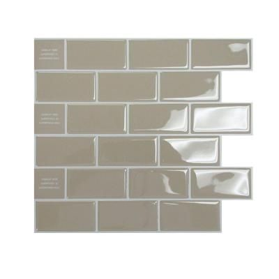 Smart Tiles 9 75 In X 10 96 In Peel And Stick Sand Mosaic Decorative Wall
