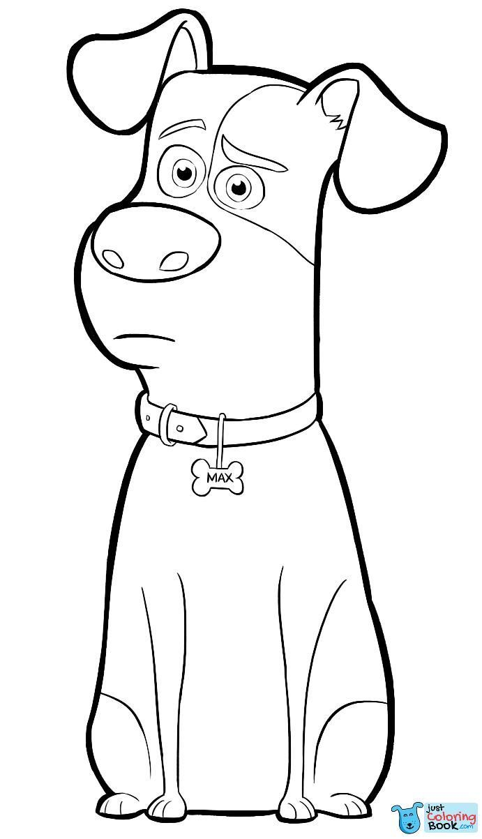 Max From The Secret Life Of Pets Coloring Page Intended For Puppie