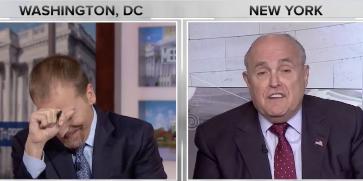 Rudy Giuliani Says He Doesn T Want Trump To Get Stuck In A Perjury Trap In An Interview With Mueller Because Truth Isn T Truth Rudy Giuliani Chuck Todd Political Quotes