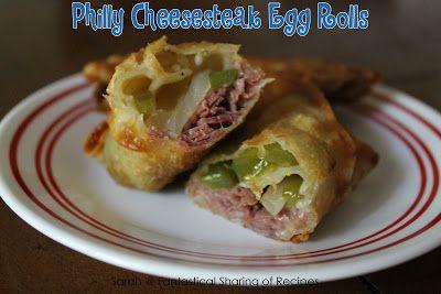Philly Cheesesteak Egg Rolls