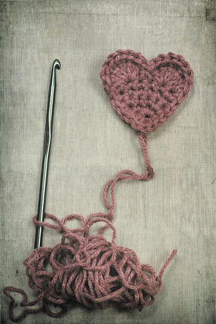 """my crocheted heart"""