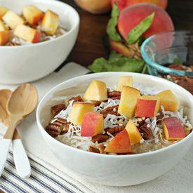 Peach and Pecan Oatmeal