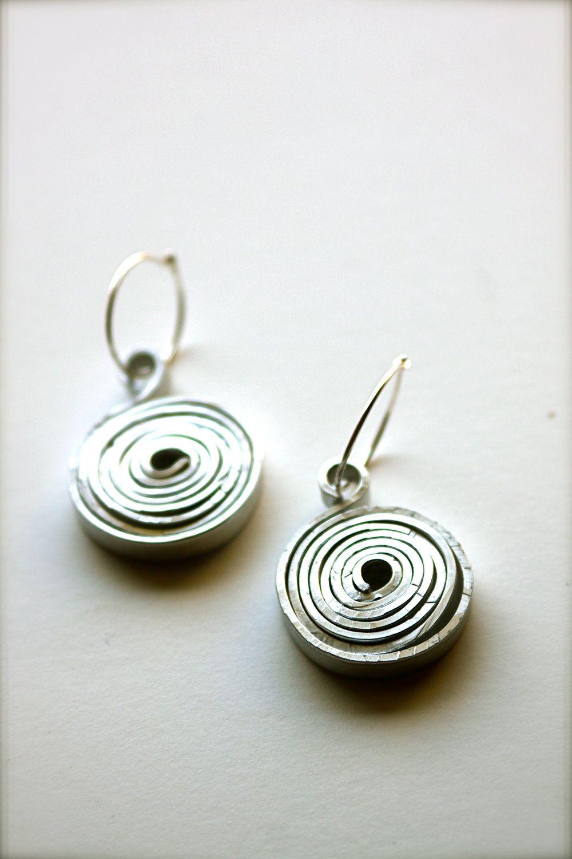New jewelry on Etsy! Hammered Aluminum Earrings. $12.00, via Etsy ...
