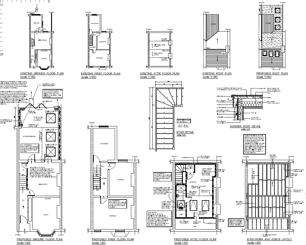 Loft Conversion Plans For Victorian Terraced House Loft